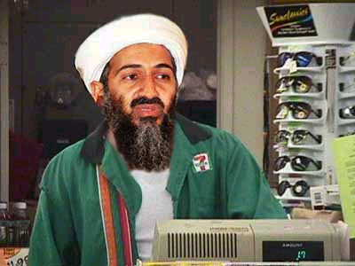 Bin Laden as 7-11 clerk