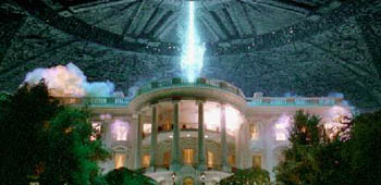 Aliens fry the White House in Independence Day