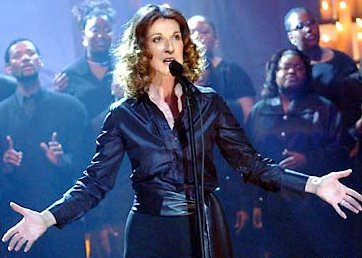 celine dion at tribute to heroes