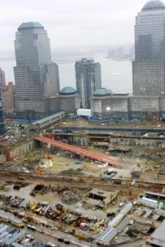 Ground Zero in NYC sixth months afrter attack